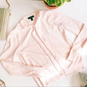 J. Crew | blush pink cardigan